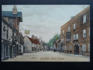 St. Neots BUCKDEN High Street THE LION & GEORGE & DRAGON HOTELS c1908 Postcard