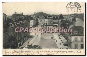Old Postcard Lons Le Saunier Place De La Liberte On Together Jack Du Theater ...