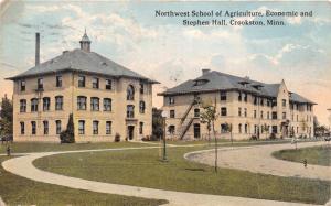 CROOKSTON MINNESOTA~NORTHWEST SCHOOL AGRICULTURE~ECONOMIC~STEPHEN HALL POSTCARD