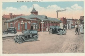 FULTON , New York, 1900-1910s; Railroad Train Station