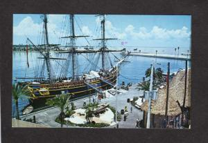FL MGM Movie Mutiny on the Bounty Ship St Petersburg Florida Postcard