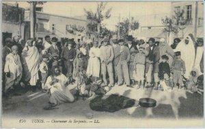 80310 -  TUNISIA  - VINTAGE POSTCARD -  TUNIS  ethnic: SNAKE CHARMER