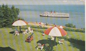 Canada Manoir Richelieu Terrace & Saguenay River Ship
