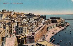 Malta - Old Barriera, Seaside, Boats 1917