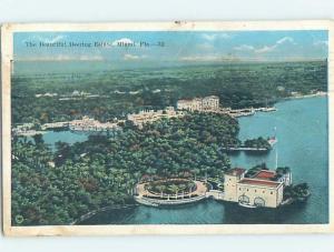 Damaged-Back W-Border AERIAL VIEW OF DEERING ESTATE Miami Florida FL d1881