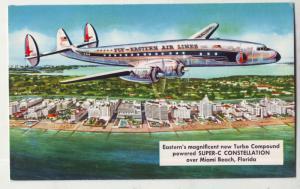 P742 vintage eastern airlines super-c constellation miami beach florida