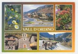 Vall D'Ordino, 5-view postcard, 60-70s