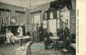 Circa-1908 Caracas Venezuela Postcard: Hotel Klindt Reception Room (With Error)