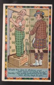 Comic Postcard - Cheap Scotsman Joke - Used 1969