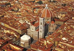 Italy Firenze Aerial view of the Cathedral Duomo