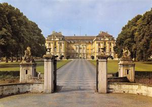 Bruehl Schloss Augustusburg Castle Entrance Statues Chateau