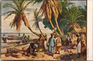 Togo West Africa People Boats Ocean Postcard E32