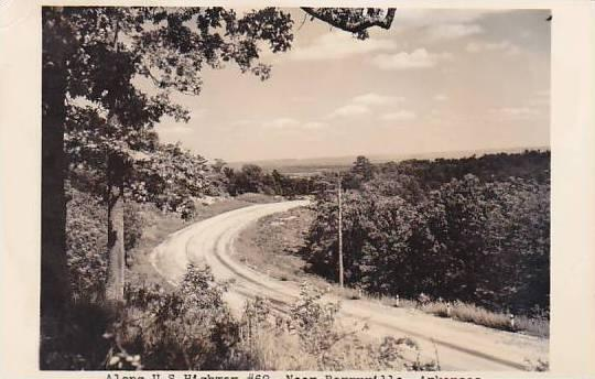 Arkansas Berryville Along U S Highway #62 Real Photo