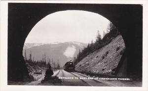 RP, CONNAUGH TUNNEL, British Columbia, Canada, 1920-1940s; Train On Railroad Tra
