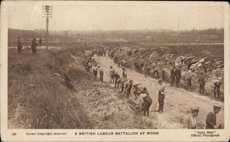 British Labour Battalion at work Daily mail official photograph