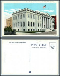 WEST VIRGINIA Postcard - Beckley, Soldiers & Sailors Memorial Building P55
