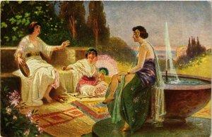 PC CPA ARABIAN TYPES AND SCENES, IM ORIENT, Vintage Postcard (b17415)