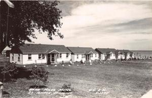 B38/ St Ignace Michigan Mi Real Photo RPPC Postcard Fran Miles Motel