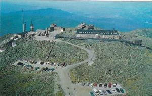New Hampshire Aerial View Summit House Hotel and T V Station On Mt Washington