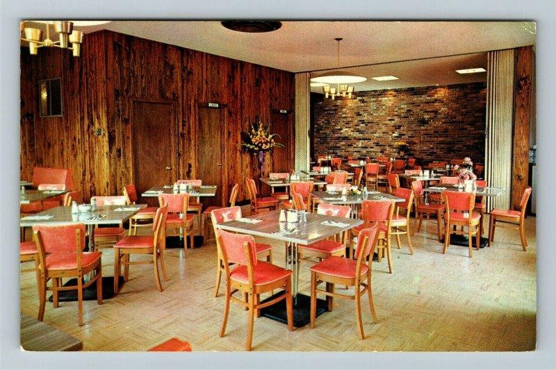 Dawson GA- Georgia, Town and Tourist Restaurant, Advert Vintage Chrome Postcard