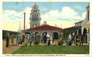 Indian Building and Santa Fe Station, Albuquerque, New Mexico, NM, USARailroa...