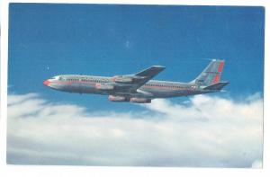 American Airlines 707 Jet Flagship Airplane Chrome Postcard