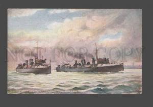 079185 Torpedo-boat destroyers Peterel Bullfinch Vintage TUCK