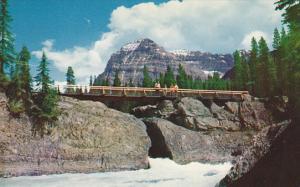 Canada Yoho National Park Natural Bridge and Mount Stephen Canadian Rockies