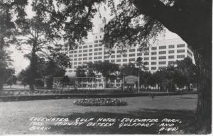 Edgewater Gulf Hotel ~ Edgewater Park, Mississippi MS ~ c1952 RPPC Postcard