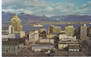 Harbour and Mountains, Vancouver, British Columbia, Canada, 40-60s