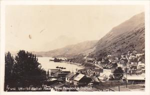 Alaska View Of Kodiak From Residential District Real Photo