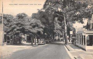Harwichport Massachusetts Main Street Vintage Postcard AA9420