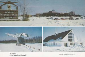3-Views, Winter Scene, Garder International Airport, Hudson Bomber, Gander, N...