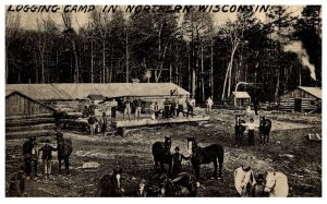 Wisconsin  Logging Camp in Northern Wisconsin