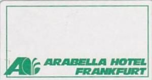 GERMANY FRANKFURT ARABELLA HOTEL VINTAGE LUGGAGE LABEL