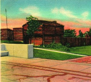 Fort Harrod Pioneer State Park Harrodsburg Kentucky KY UNP Vtg Linen Postcard