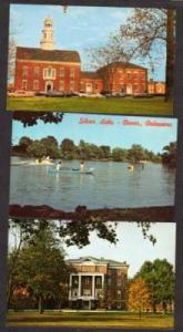 DE Lot 3 DOVER DELAWARE Views Postcards Silver Lk ++