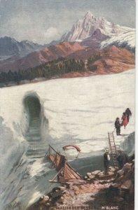 MONT-BLANC , France , 1900-10s ; La Grotte Du Glacier Des Bossons ; TUCK