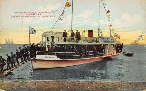 Glass Bottom Boat Empress Landing On Beach at Catalina Island Postcard