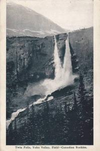 Twin Falls, Yoho Valley, Field, British Columbia, Canada, 1910-1920s