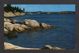 ME View Boats Harbor CAPE NEWAGEN MAINE Postcard