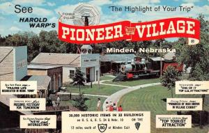 Minden Nebraska Pioneer Village Vintage Postcard K91620