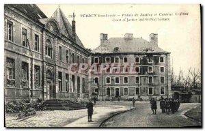Old Postcard Army Verdun Bombard Justice Palace Barracks and St Paul