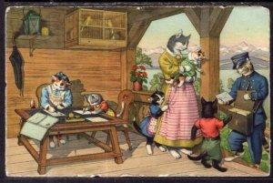 Dressed Cats on Porch Mainzer BIN