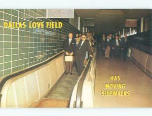 Pre-1980 MODERN MOVING SIDEWALKS AT DALLAS LOVE FIELD AIRPORT Dallas TX E3631