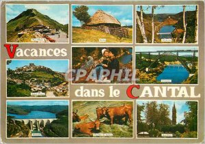Postcard Modern Holidays in Cantal Puy Mary Saint Flour Garabit
