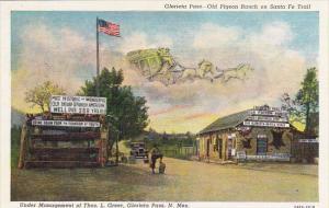 Glorietta Pass Old Pigeon Ranch On Santa Fe Trail New Mexico Curteich