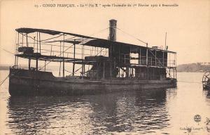 Rep. of Congo Francais Brazzaville, Le  Pie X apres l'Incendie, Boat 1910