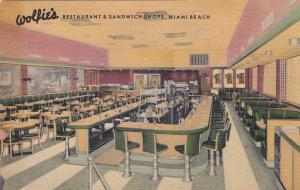 MIAMI BEACH, Florida, 30-40s ; Wolfie's Restaurant & Sandwich Shops