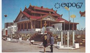 EXPO 67, The Pavilion Of Burma, Montreal, Quebec, Canada, 1960-1970s